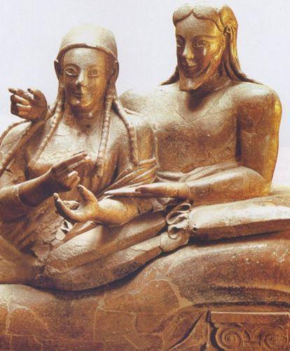 Sarcofago degli sposi - necropoli della Banditaccia - Cervetteri - 520 a.C