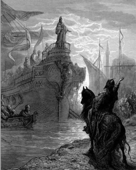 Gustave Dorè - Enrico Dandolo incontra Murzuflo