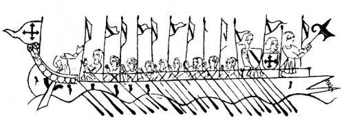 """Galea catalana inizio XIII sec. Dalle """"Cantigas di Alfonso il Saggio"""" Manoscritto del XIII sec."""
