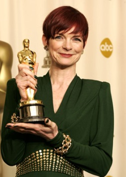 "Sandy Powell, winner Best Costume Design for ""The Aviator"" The 77th Annual Academy Awards - Deadline Room Kodak Theatre Hollywood , California United States February 27, 2005 Photo by Jeff Vespa/WireImage.com To license this image (4536817), contact WireImage: +1 212-686-8900 (tel) +1 212-686-8901 (fax) info@wireimage.com (e-mail) www.wireimage.com (web site)"