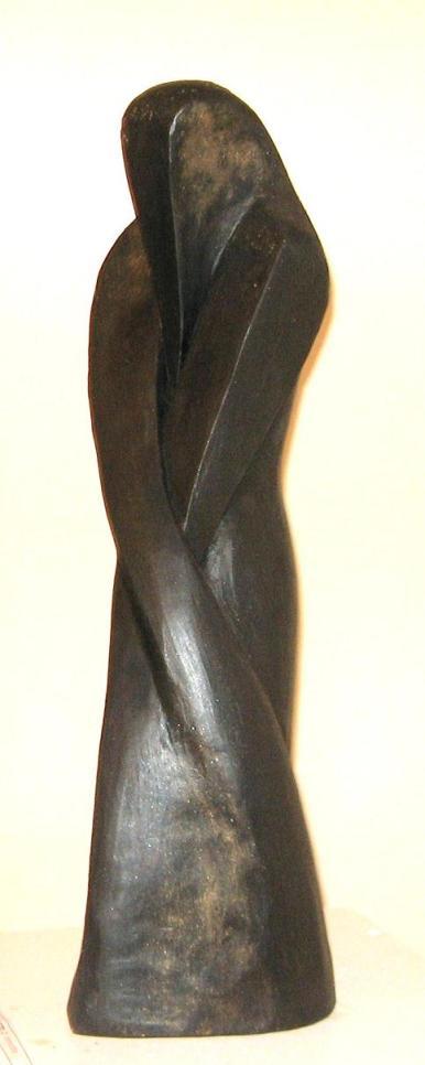 PENITENTE GF nero 2 - terra cotta patinata h52cm 2007_mail
