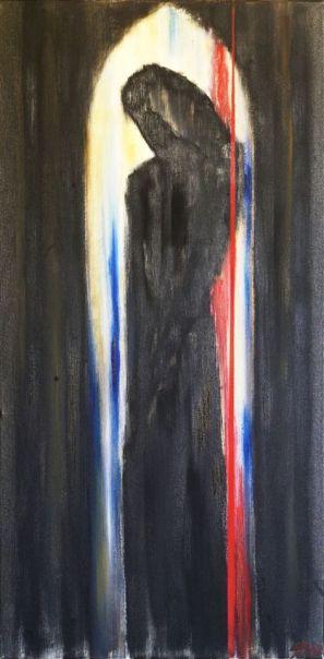 Penitentiagite 1 Olio su tela cm 40x80